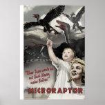 Día D de Dino: Microraptor Impresiones