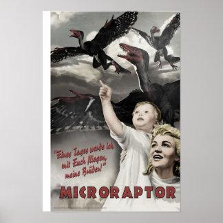 Día D de Dino Microraptor Impresiones