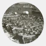 Día D de WWII en Francia meridional Pegatinas Redondas