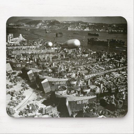 Día D de WWII en Francia meridional Tapetes De Raton