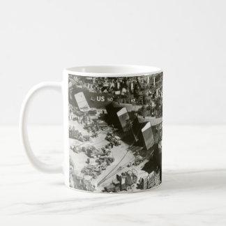 Día D de WWII en Francia meridional Tazas De Café