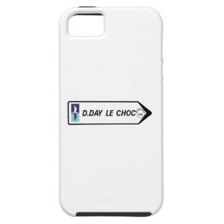 Día D el choque, señal de tráfico, Francia iPhone 5 Cárcasas