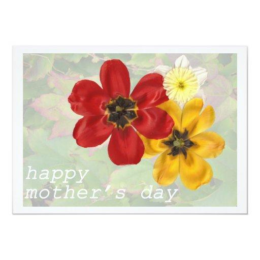 """Día de 6 madres feliz invitación 5"""" x 7"""""""
