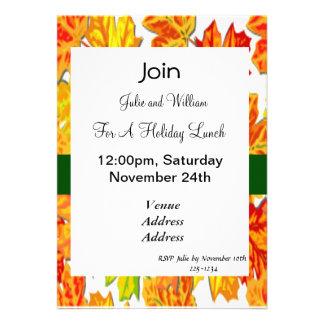 Día de Acción de Gracias, calabaza, calabaza, gira Invitación Personalizada