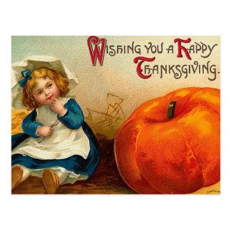 Día de Acción de Gracias feliz del vintage Tarjeta Postal