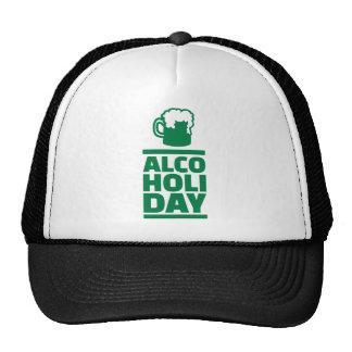 Día de Alcoholiday St Patrick Gorro De Camionero