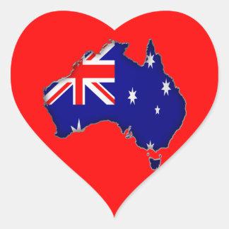 Día de Australia Pegatina Corazon