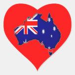 Día de Australia Pegatina En Forma De Corazón
