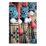 Día de baile maorí femenino de Kapa Haka Waitangi Tarjeta Postal