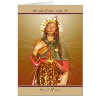 Día de banquete de Rocco del santo - tarjeta de no