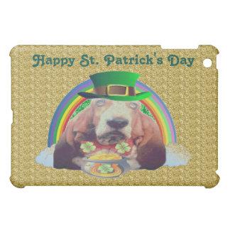 Día de Basset Hound St Patrick feliz del caso de