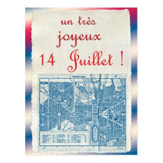 Día de Bastille feliz Postal