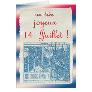 Día de Bastille feliz Felicitacion