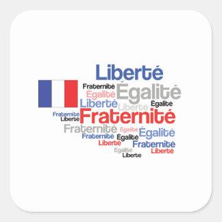 Día de Bastille francés de la fraternidad de la Pegatina Cuadrada