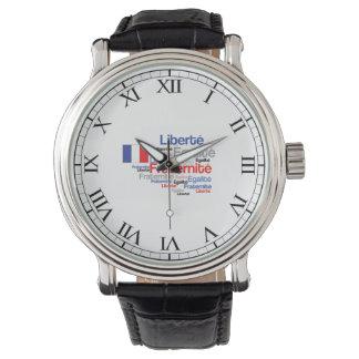 Día de Bastille francés de la fraternidad de la Reloj De Mano