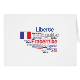 Día de Bastille francés de la fraternidad de la Tarjeta De Felicitación
