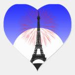 Día de Bastille París Pegatina Corazon