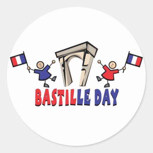 ¡Día de Bastille! Pegatina Redonda