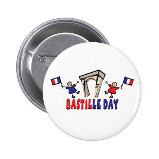 ¡Día de Bastille! Pin Redondo De 2 Pulgadas