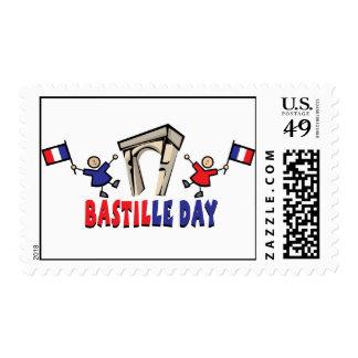 ¡Día de Bastille! Sello Postal