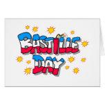Día de Bastille Tarjeta