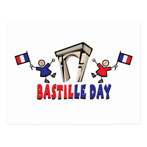 ¡Día de Bastille! Tarjeta Postal