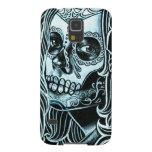 Día de Bella Morte del chica muerto del cráneo del Carcasas De Galaxy S5