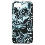 Día de Bella Morte del chica muerto del cráneo del iPhone 5 Carcasas