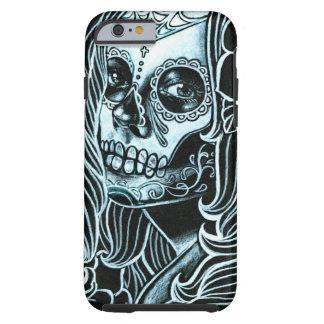 Día de Bella Morte del chica muerto del cráneo del Funda De iPhone 6 Tough