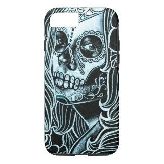 Día de Bella Morte del chica muerto del cráneo del Funda iPhone 7