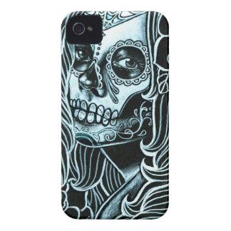 Día de Bella Morte del chica muerto del cráneo del Funda Para iPhone 4 De Case-Mate