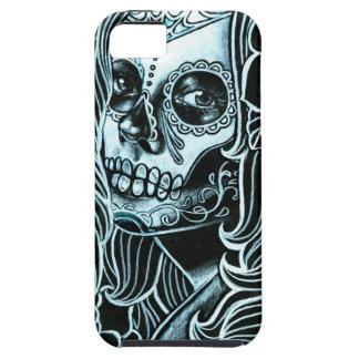 Día de Bella Morte del chica muerto del cráneo del Funda Para iPhone SE/5/5s