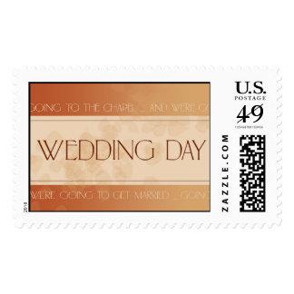 Día de boda de la caída sello