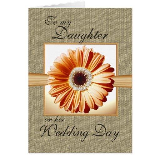 Día de boda de la hija tarjetas