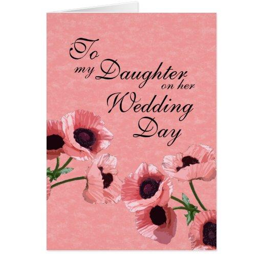 Día de boda de la hija felicitaciones