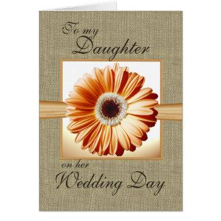 Día de boda de la hija tarjeta de felicitación