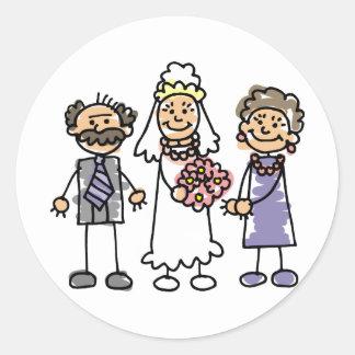 Día de boda de los padres de las novias antes de l etiqueta