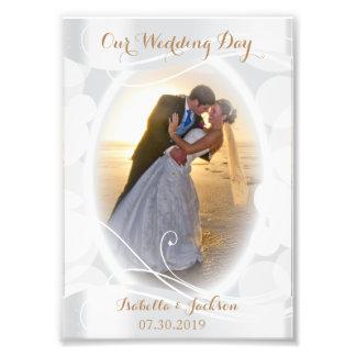 Día de boda decorativo - plantilla de la foto cojinete