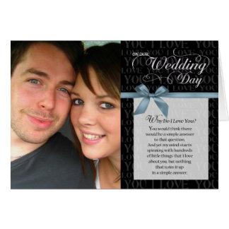 Día de boda, porqué lo haga te amo - ennegrézcase  felicitacion