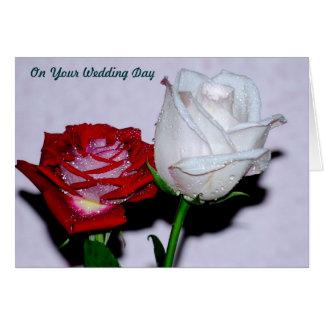 Día de boda tarjeta de felicitación