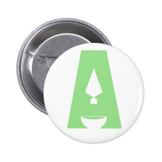 """Día de botón del logotipo de la arqueología """"A"""" Pin Redondo De 2 Pulgadas"""