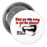 Día de botón del silencio pin