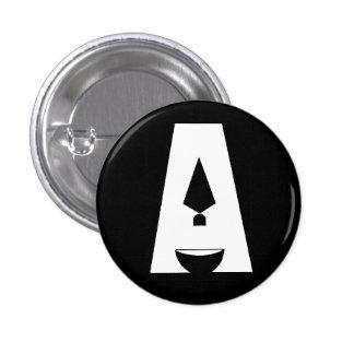 Día de botón negro del logotipo de la arqueología pin redondo de 1 pulgada