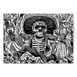 Día de Calavera de los muertos Tarjeton