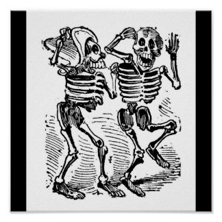 """Día de """"Calaveras feliz"""" México de los muertos Póster"""