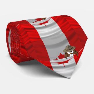 Día de Canadá Corbata Personalizada