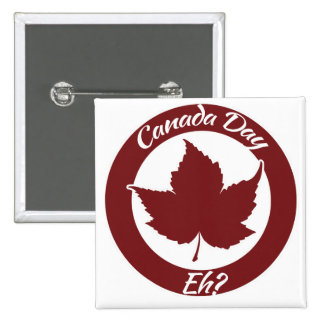 Día de Canadá eh Pin Cuadrado