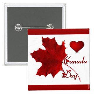 Día de Canadá Pin Cuadrado