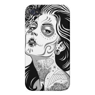 Día de caso muerto de Iphone del chica iPhone 4 Carcasa
