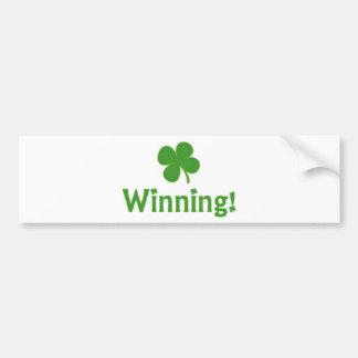Día de Charlie Sheen St Patrick que gana Pegatina Para Auto